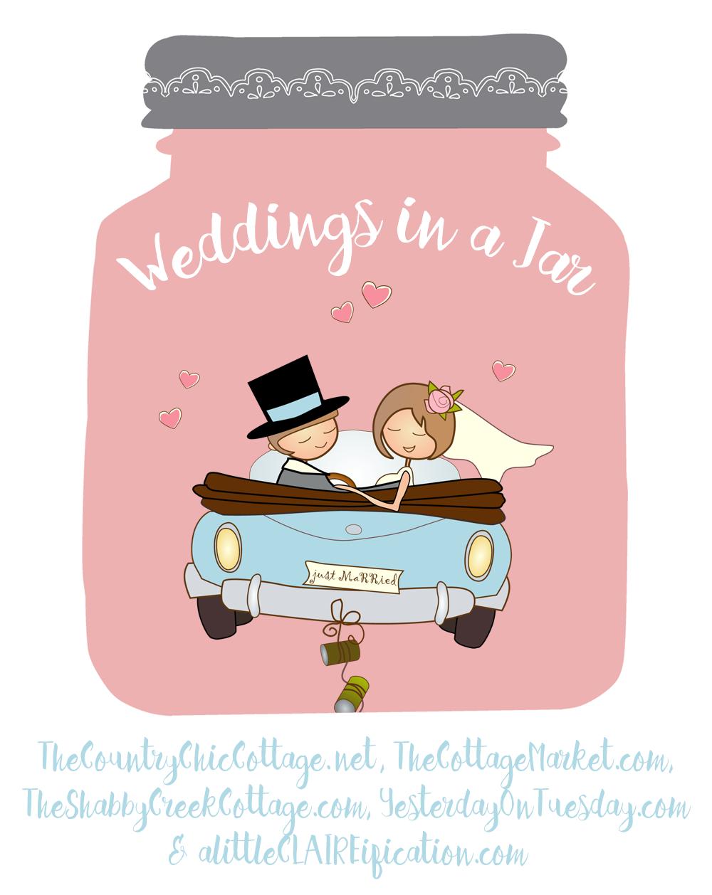 Mason Jar Wedding Countdown Calendar