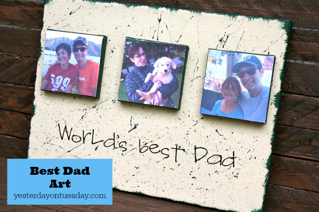 World's Best Dad Art, a great homemade canvas gift for Father's Day or Dad's Birthday!
