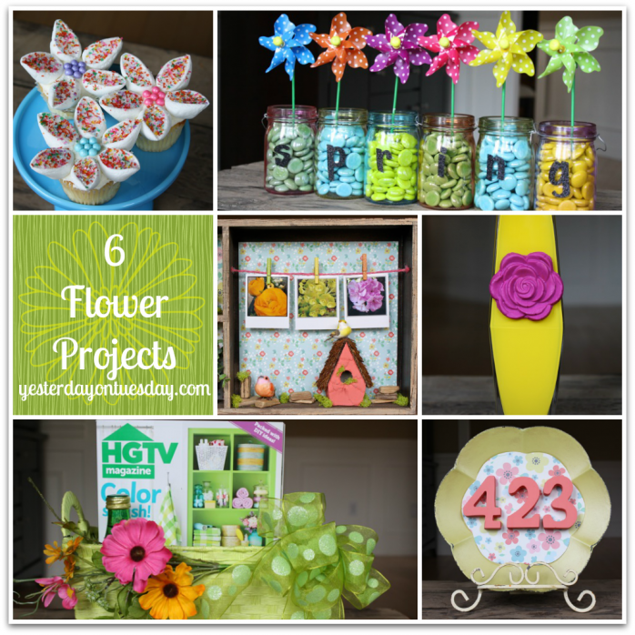 Six bright and beautiful flower projects for spring.