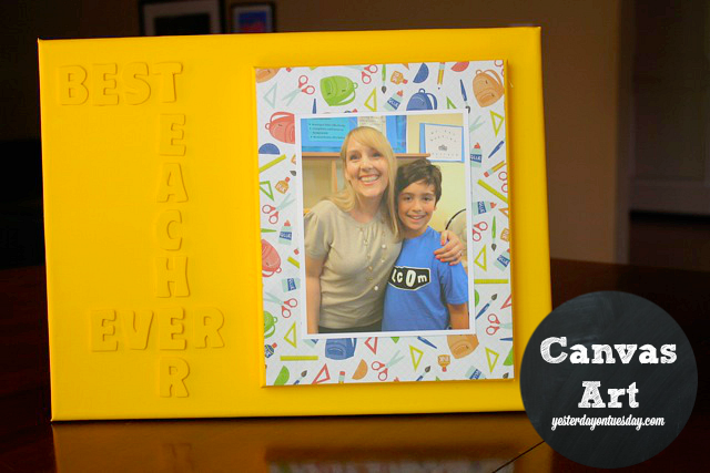 Best Teacher Art: A thoughtful DIY gift for Teacher Appreciation or any time!