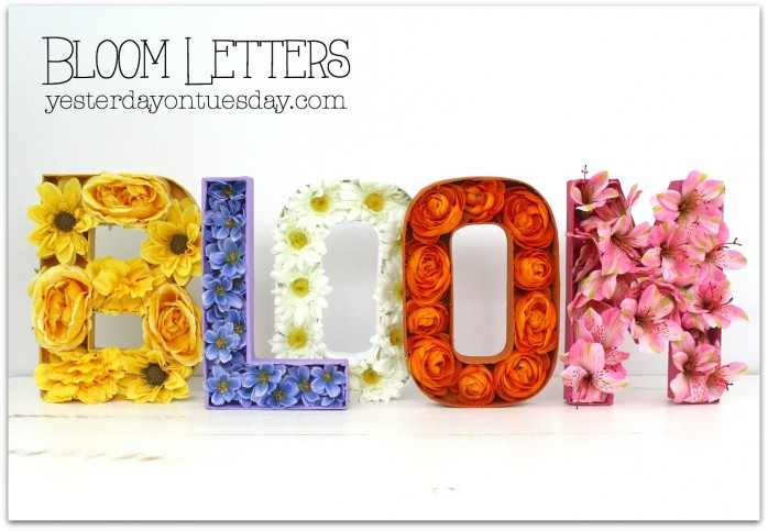 DIY Bloom Letters, a fun spring decor project