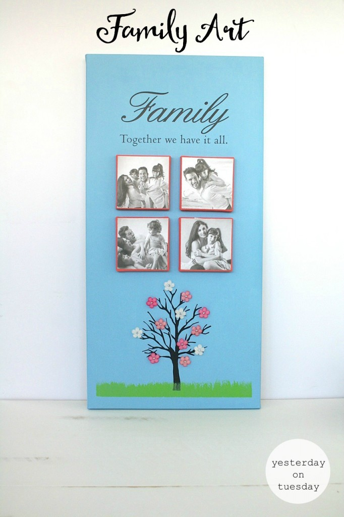 DIY Family Art, a meaningful art project