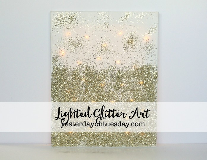 DIY Lighted Glitter Art