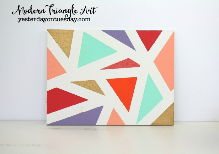 DIY Modern Triangle Art