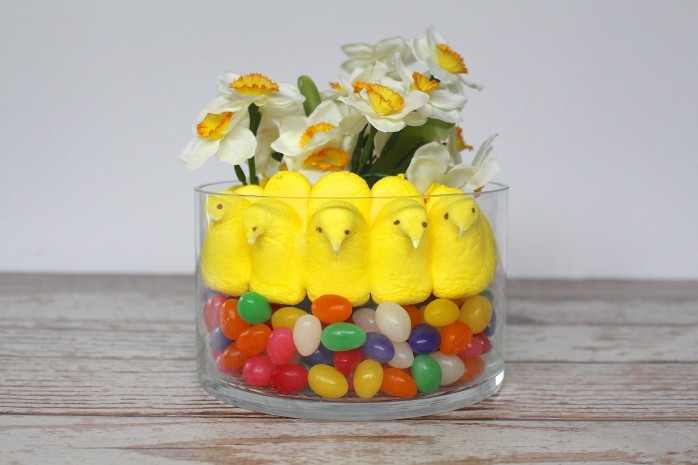 How to make a cute Peeps flower arrangement for Easter