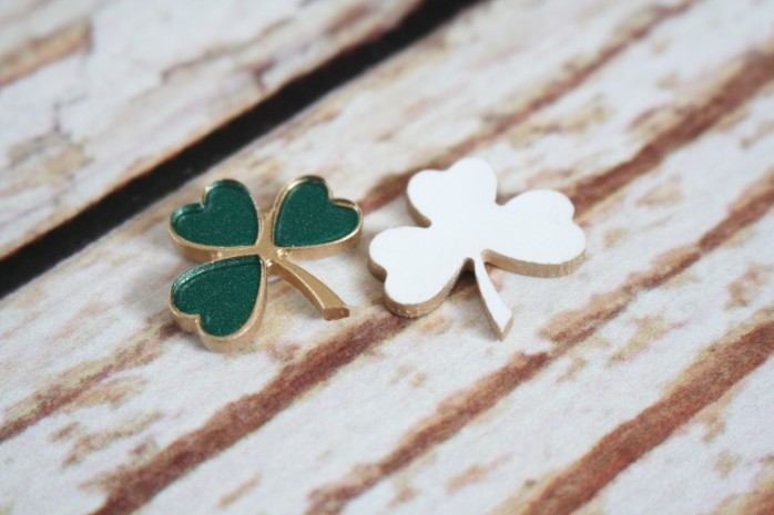 DIY Sweet Shamrock Earrings: Whip up these cute earrings for St. Patrick's Day.