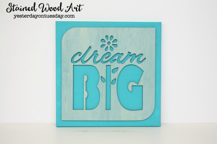 Stained Wood Art: How to make lovely stained wood art decor, it's super easy!