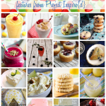 A collection of fabulous fresh and fruity treats including muffins, drinks, cookies and desserts