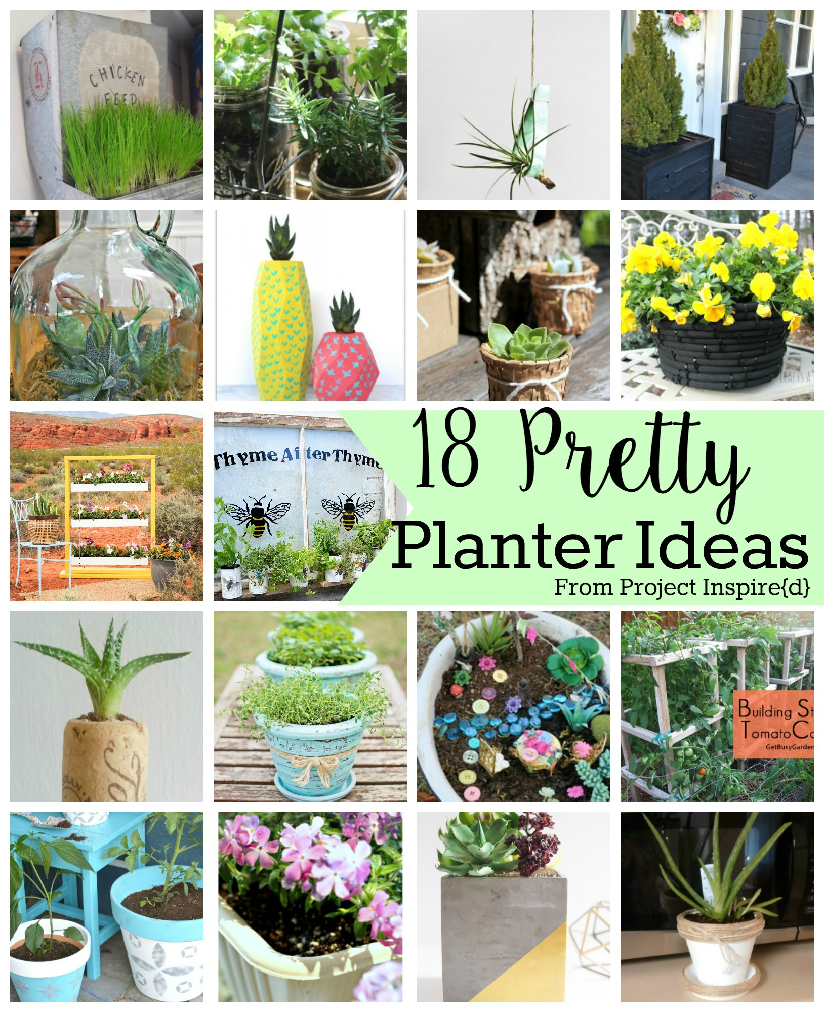 18 Ideas That Will Transform: 18 Pretty Planter Ideas