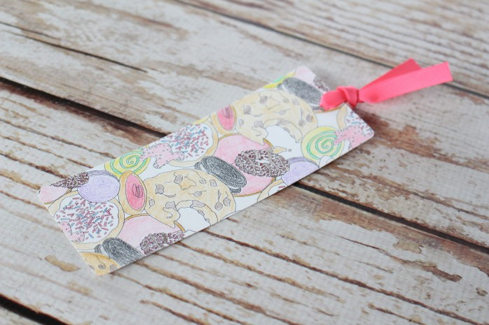 DIY bookmarks are a great way to reuse coloring pages!