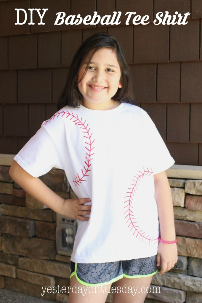 How to make a DIY Baseball Tee Shirt, a fun craft for kids