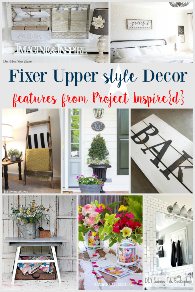 Great projects for getting that Fixer Upper Style. Lovely decor ideas for your home.