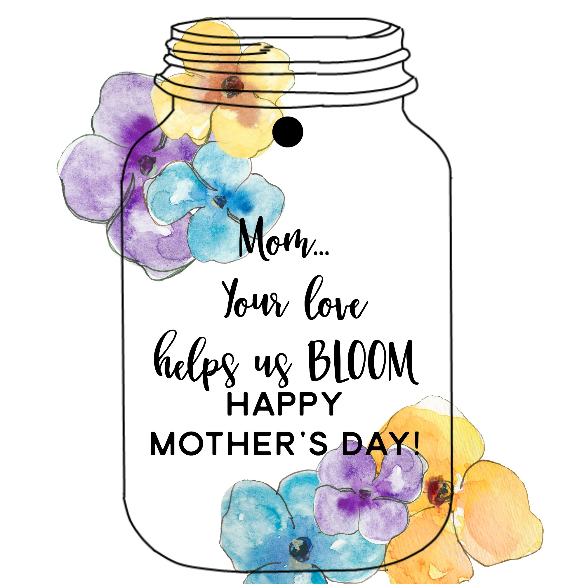 picture about Printable Mason Jar Tags referred to as Moms Working day Mason Jar Tags Present Yesterday Upon Tuesday