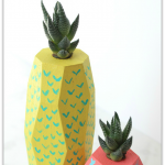 How to make Tropical Fruit Succulent Planters, a fresh and fun DIY idea to add a pop of color to your home