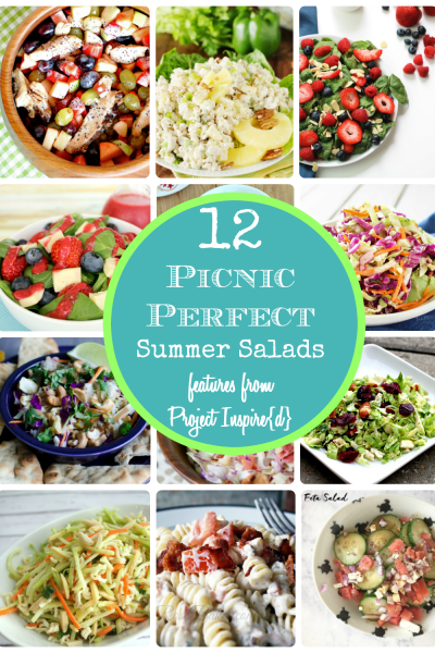 A dozen delicious picnic salad recipes, perfect for summer! Bring them to your family gatherings, barbecues and get togethers.