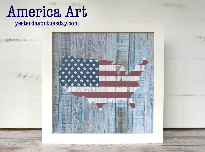 Super Easy America Art for 4th of July and Memorial Day