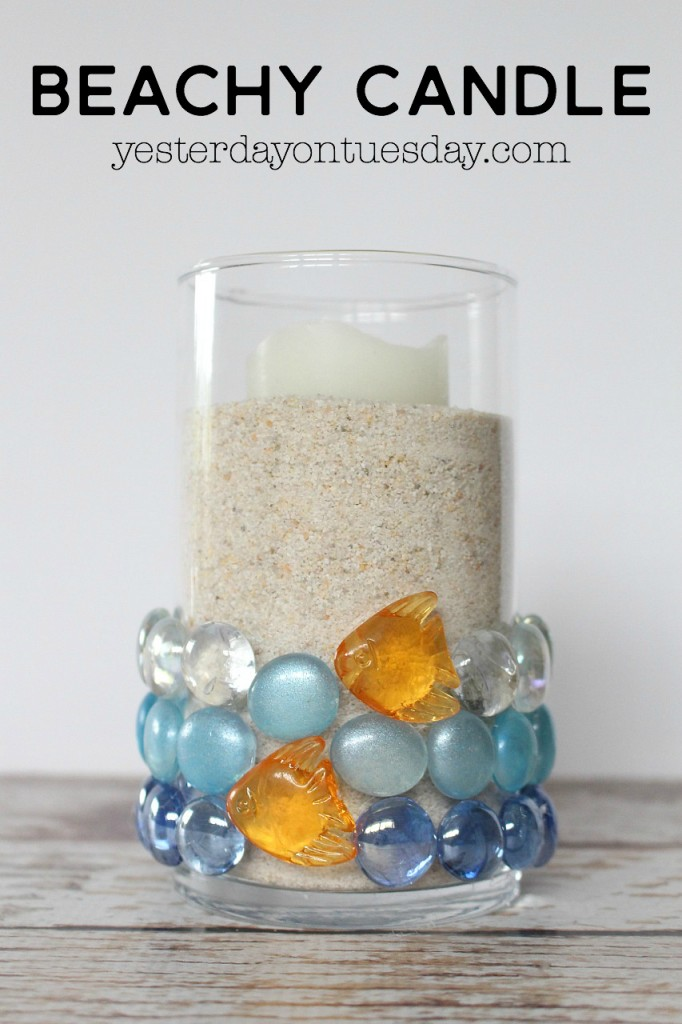 DIY Beachy Candle decor