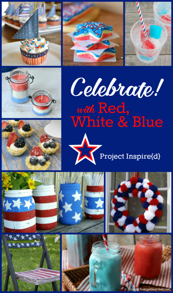 9 Patriotic Projects shared at Project Inspire{d}, perfect for Memorial Day and 4th of July