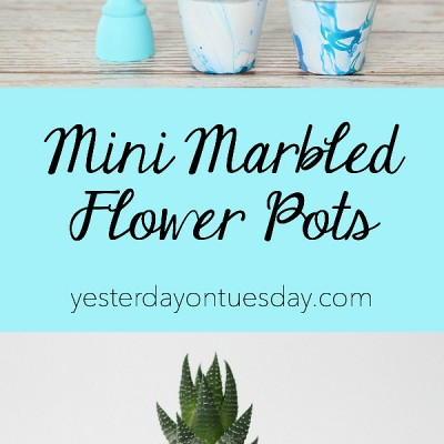 Mini Marbled Flower Pots