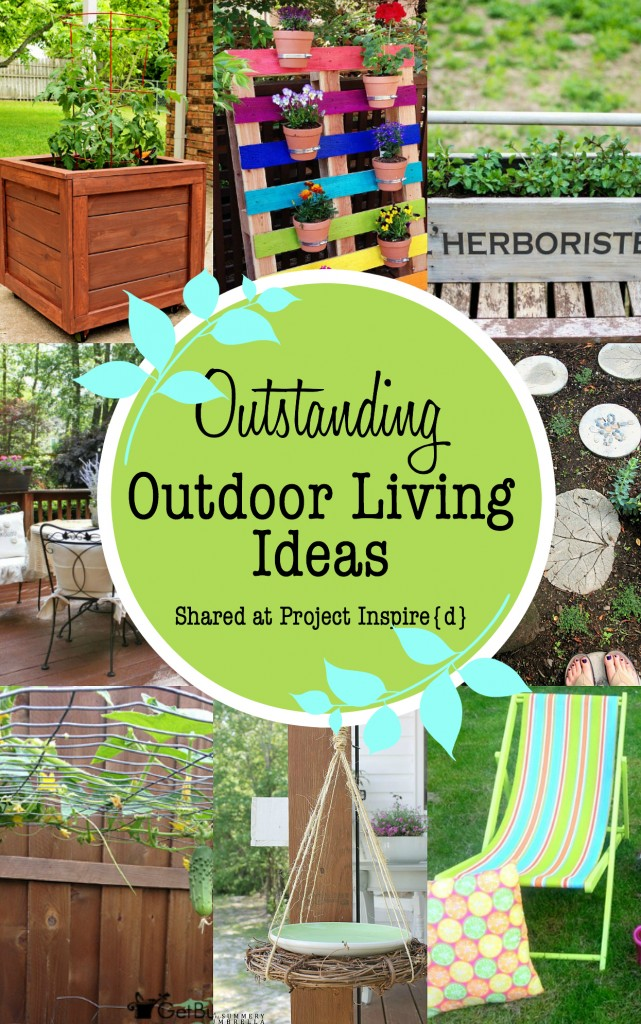 An inspiring collection of DIY Outdoor Living Ideas including garden stones, a pallet garden and more