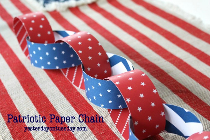 DIY Patriotic Paper Chain