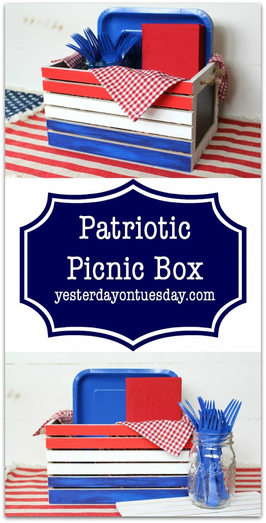 DIY Patriotic Picnic Box, great for Memorial Day and 4th of July