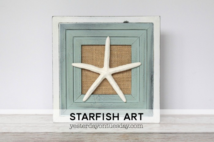 DIY Starfish Art, a pretty coastal decor idea