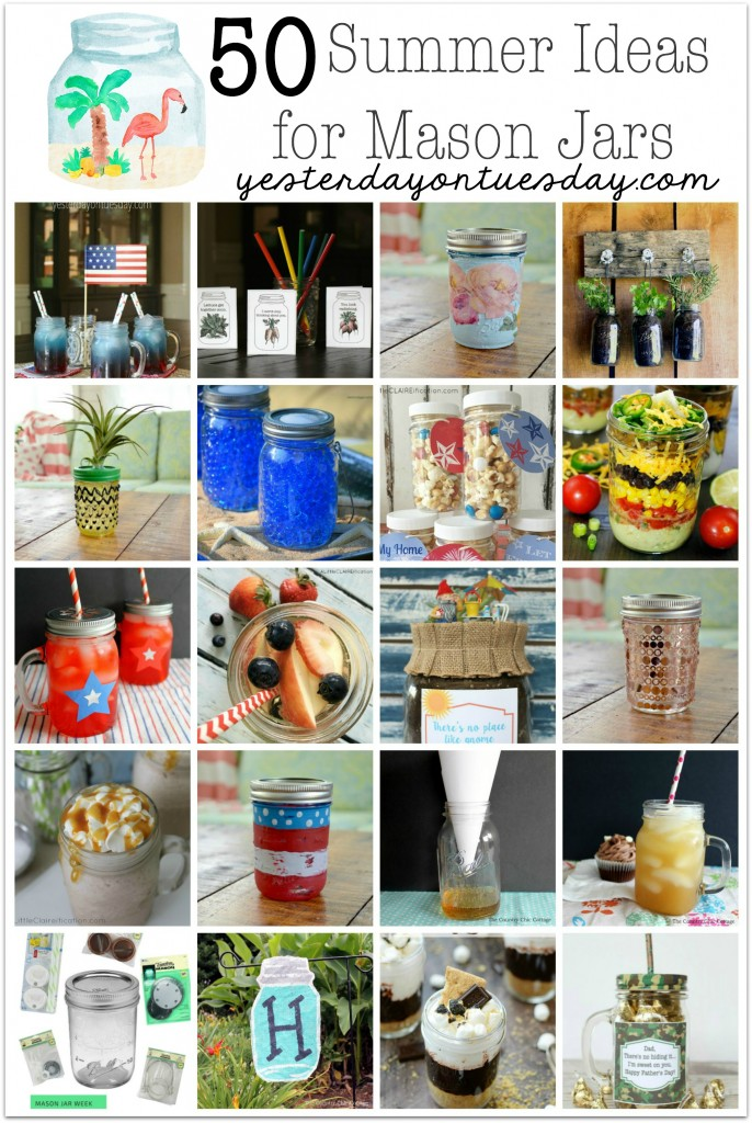 50 Summer Ideas for Mason Jars: recipes, gifts, decor and more!