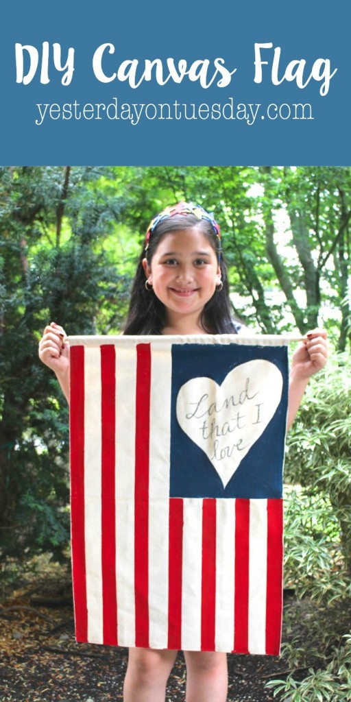 DIY Canvas Flag for 4th of  July
