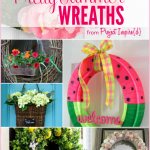 9 Pretty Summer Wreaths: Fabulous DIY Wreath Ideas including a watermelon wreath, seashell wreath and more!