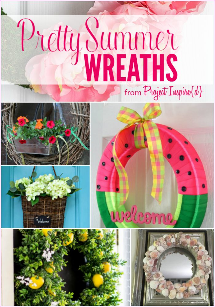9 pretty summer wreaths yesterday on tuesday for Pretty project