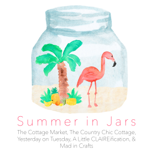 Summer in Jars: Five fun bloggers, each sharing 5 days of summer themed mason jar craft, gift and decor ideas!