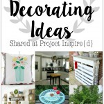 Darling DIY Decorating Ideas including a mason jar pillow, pallet bar, seashell flower pot and more!