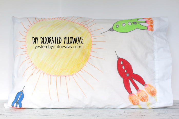 DIY Decorated Pillowcase, a  fun kid's craft
