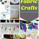 9 Fabric Crafts to make now including fabric flowers, an ice cream garland and more!