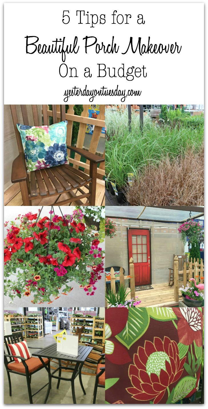 5 tips for a beautiful porch makeover on a budget yesterday on
