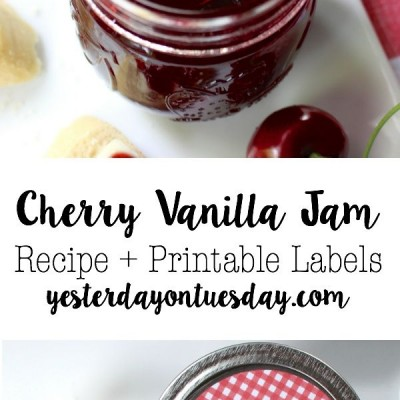 Cherry Vanilla Jam Recipe