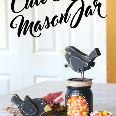 Cute Crow Mason Jar Gift