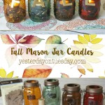 Easy Fall Mason Jar Candles, lovely fall decor for your home.