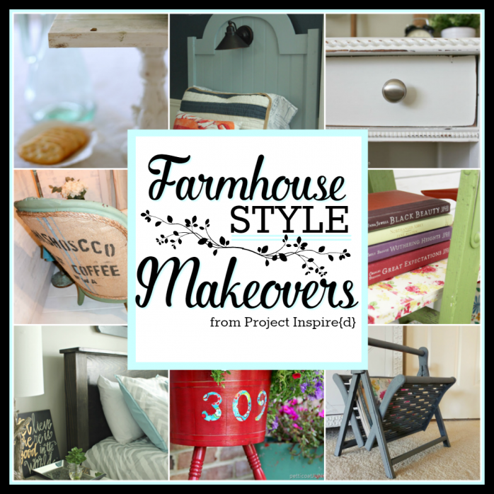 Amazing Farmhouse Style Furniture Makeovers for Fixer Upper Fans! Catch these great upcycles, like stuff you'd see in Magnolia Home.