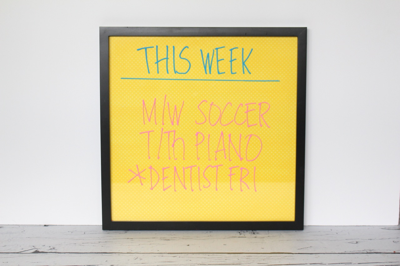 7 Back To School Organizing Solutions Including A Dry Erase Board,  Perpetual Calendar, Chalkboard