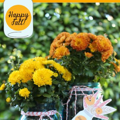 Happy Fall Mason Jar Gift and Tags