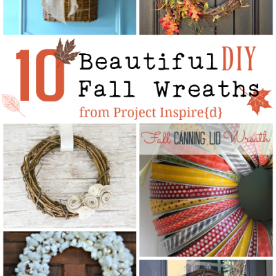 10 Beautiful Fall Wreath to add a touch of autumn to your front door or mantle.