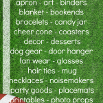 50 Fabulous Football Projects including fan wear, decor, party ideas, tailgating ideas, recipes and more!
