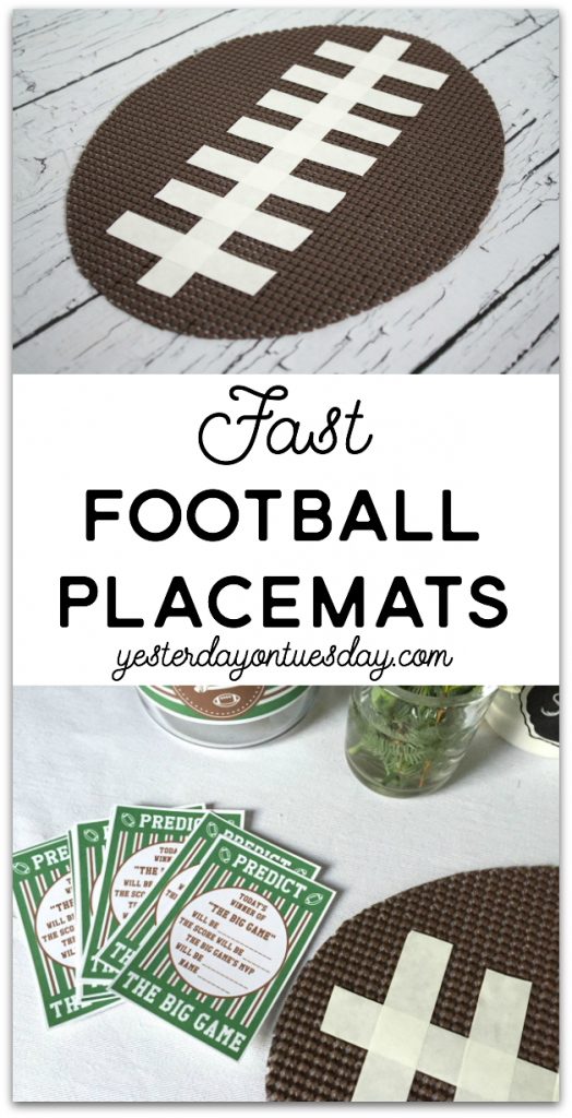 Fast Football Placemats