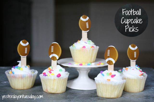 Easy Football Cupcake Picks