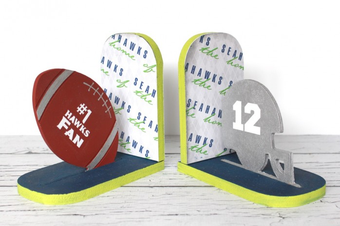 7 Fantastic Seahawks Projects including a scarf, bookends, jewelry, a pillowcase, beer mug and more!