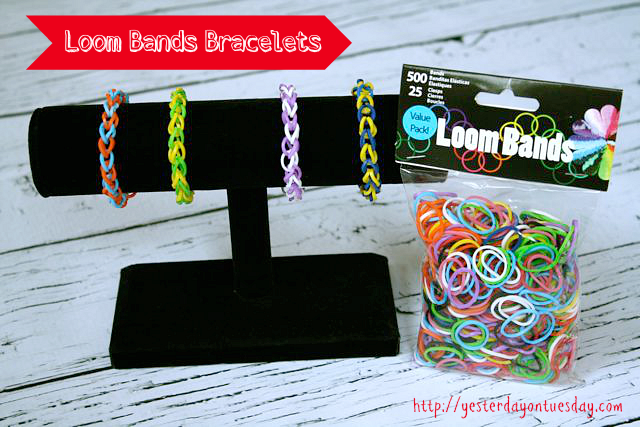 DIY Loom Ban Bracelets in your favorite team's colors