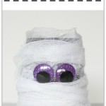 DIY Mason Jar Mummy, a fun Halloween mason jar craft.