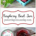 Raspberry Basil Jam Recipe: Make this delicious jam to enjoy on ice cream or crackers.
